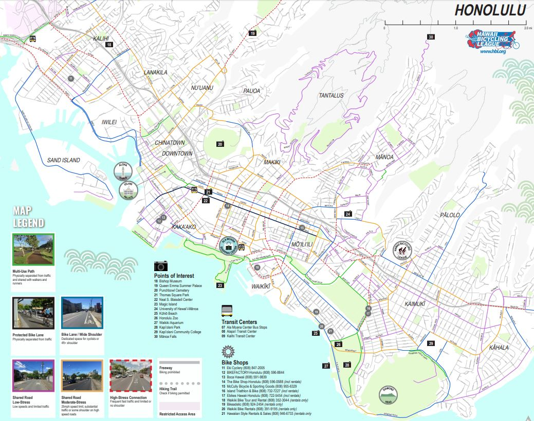 Honolulu Bike Map