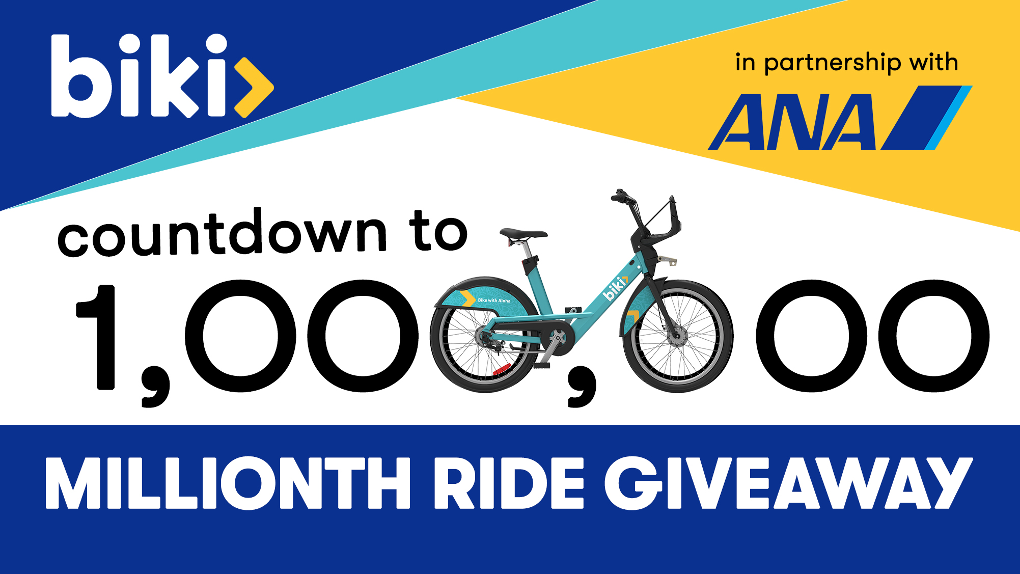 fe84bf31e3 One Million Rides Giveaway! - Biki