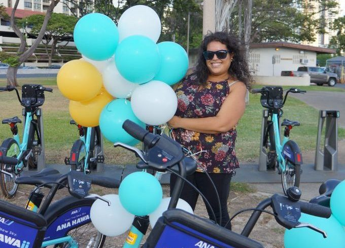 Ashley Gallaraga took the one millionth biki ride!