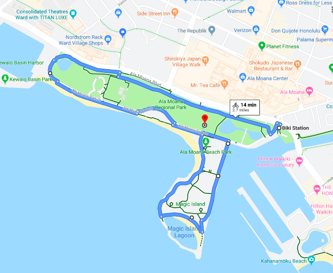 Click on the Map to open the route in Google Maps