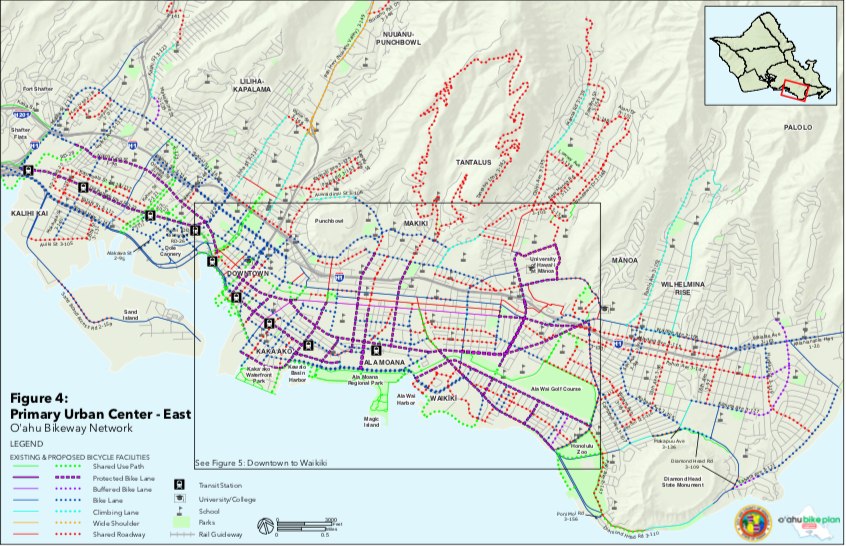 p.49 Proposed Bikeways in the Honolulu Urban Core
