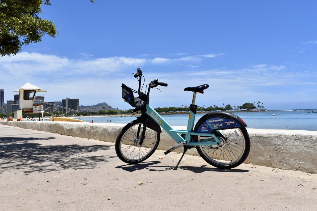 Biki on the Ala Moana Beach Park Shared-Use Path